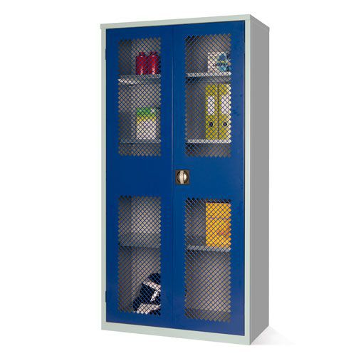 Mesh Door Cupboard with 3 Shelves - 1830x915x457mm