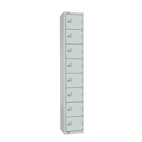 8 Door Antibac Locker 1800x300x300mm Cylinder Lock