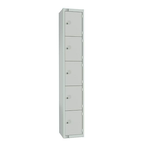5 Door Antibac Locker 1800x300x450mm Cylinder Lock