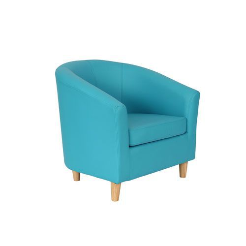 Coloured Faux Leather Reception Tub Chairs