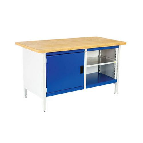Bott Cubio Heavy Duty Workbench with 1 Shelf & 1 Cupboard 840x1500x750