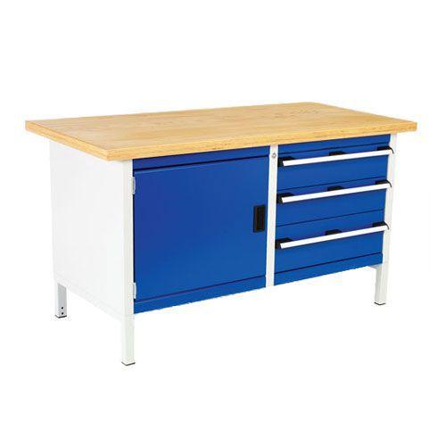 Bott Cubio Heavy Duty Workbench with 3 Drawers & 1 Cupboard