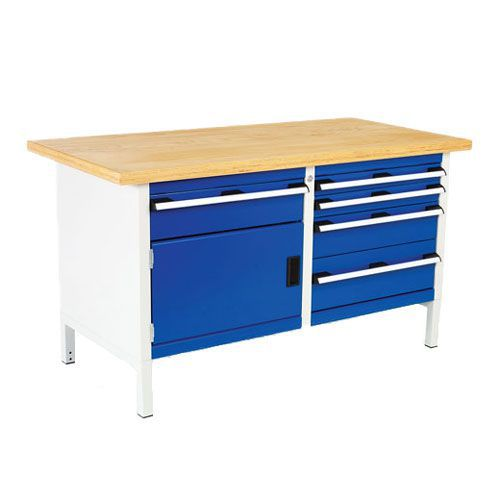 Bott Cubio Heavy Duty Workbench with 5 Drawers & 1 Cupboard