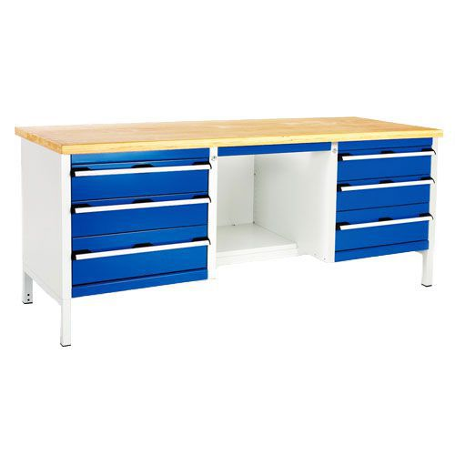 Bott Cubio Heavy Duty Workbench with 6 Drawers & Half Shelf