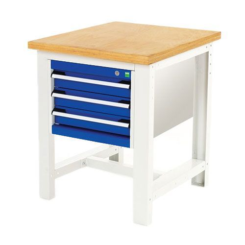 Bott Cubio Heavy Duty Workbench With MPX Top & Drawers 840x750x750mm