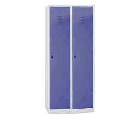 Clean & Dirty Lockers with Plinth - 2 Nest Grey Body & Hasp Lock - 1800x800x500mm