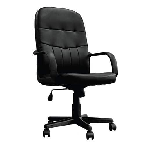 Tummel Black Leather Office Chair