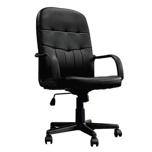 Tummel Black Leather Office Chair