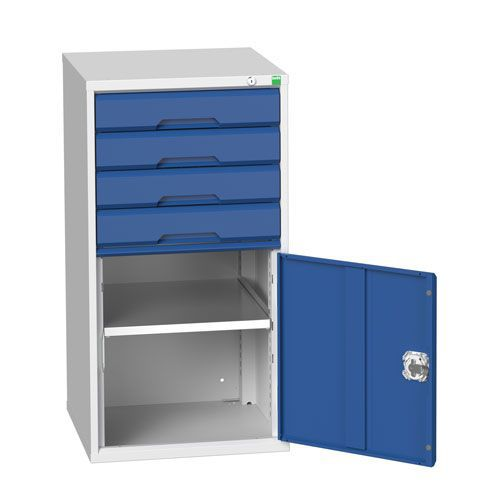 Bott Verso 1 Shelf Multi-Drawer Combined Metal Tool Cabinet 1000x525mm
