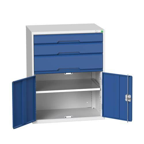 Bott Verso 1 Shelf Multi-Drawer Combined Metal Tool Cabinet 1000x800mm