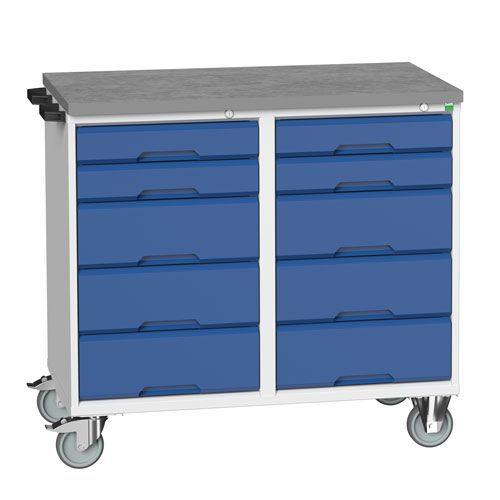Bott Verso Partitioned 10 Drawer Mobile Storage Cabinet 980x1050mm