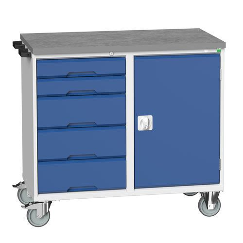 Bott Verso Mobile Combination Drawer and Cupboard Cabinet 980x1050mm