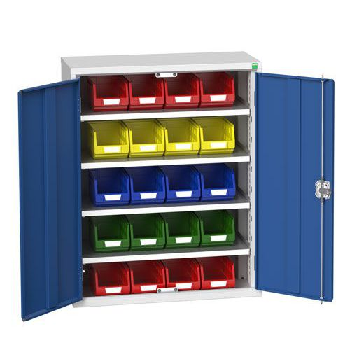 Bott Verso Workshop Storage Cabinet With 20 Bins HxW 1000x800mm