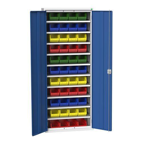 Bott Verso Workshop Storage Cabinet With 44 Bins HxW 2000x800mm