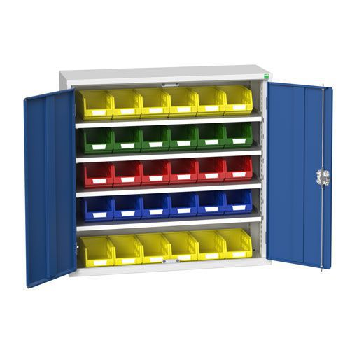 Bott Verso Workshop Storage Cabinet With 30 Bins HxW 1000x1050mm