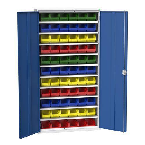 Bott Verso Workshop Storage Cabinet With 66 Bins HxW 2000x1050mm