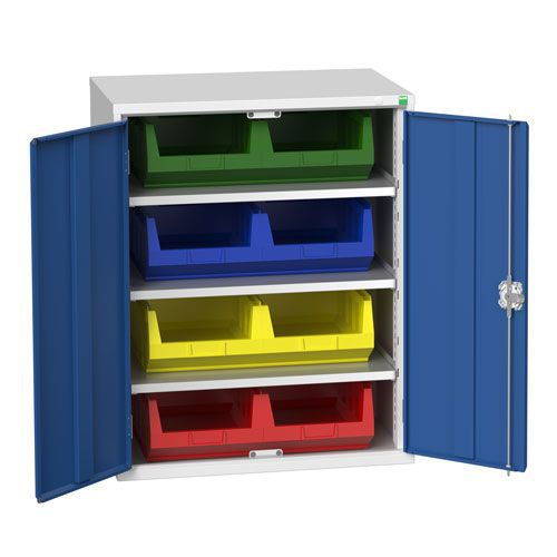 Bott Verso Workshop Storage Cabinet With 8 Bins HxW 1000x800mm