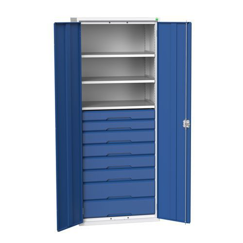Bott Verso Multi Drawer/Shelves Kitted Metal Cabinet HxW 2000x800mm