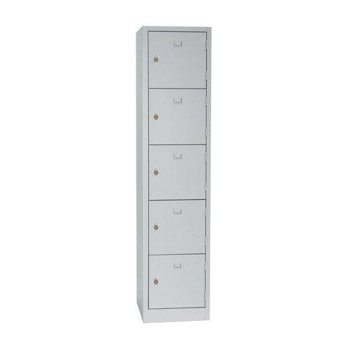 Manutan Five Door Locker with Hasp Lock - 1800x415x500mm