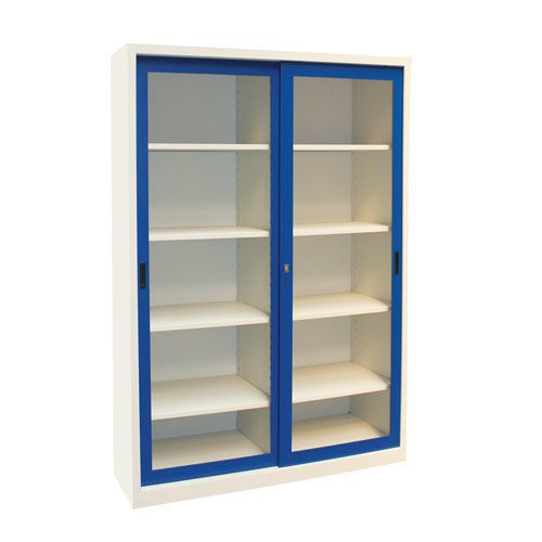 Manutan Sliding Vision Door Cupboard - 2000x1500x650mm