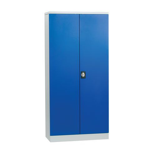 Large Flat Pack Tool Cupboard with Louvre Panels - Blue