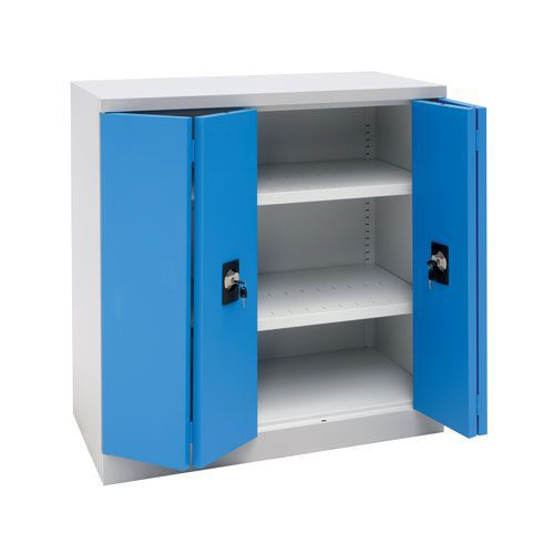 Manutan Low Cupboard with Folding Doors - 1000x1000x500mm