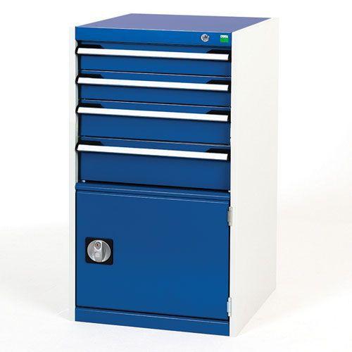 Bott Cubio Combi Cabinet Perfo Door 1 Shelf And 4 Drawers 1000x525x525