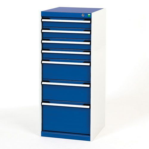 Bott Cubio Multi Drawer Cabinet For Tool Storage HxWxD 1200x525x525mm