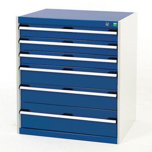 Bott Cubio Heavy Duty Multi Drawer Tool Cabinet HxWxD 900x800x525mm
