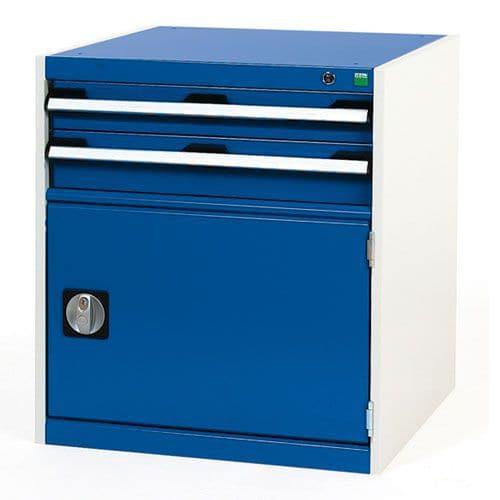 Bott Cubio Combi Cabinet Perfo Door 1 Shelf And 2 Drawers WxD 650x650