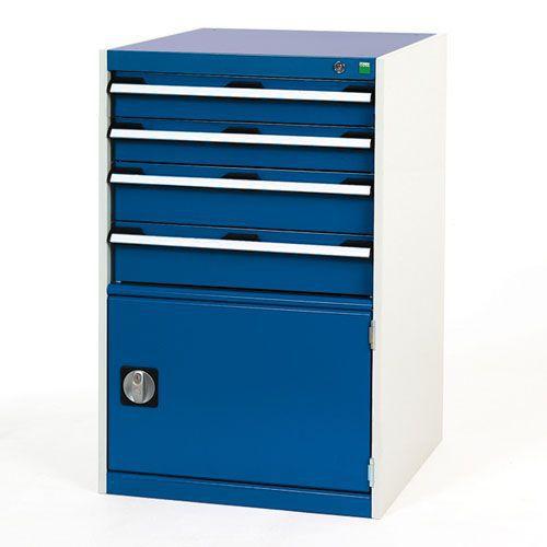 Bott Cubio Combi Cabinet Perfo Door 1 Shelf And 4 Drawers 1000x650x650