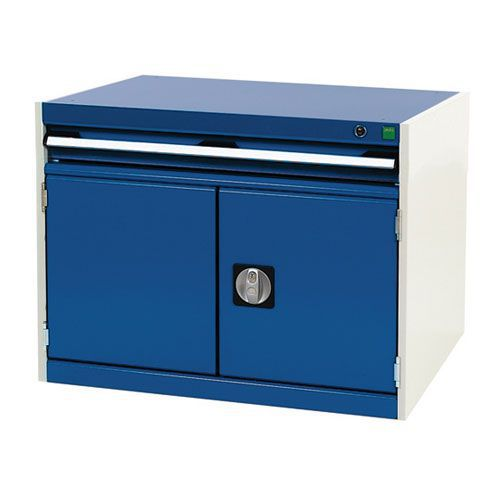 Bott Cubio Combi Cabinet Perfo Doors 1 Shelf And 1 Drawer 600x800x650