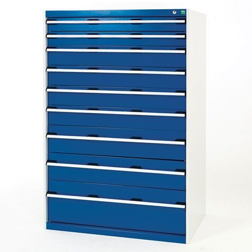 Bott Cubio Multi Drawer Tool Storage Cabinets HxWxD 1600x1050x650mm