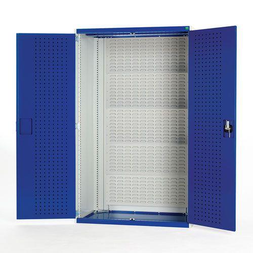 Bott Cubio Heavy Duty Louvre Backed Cabinet With Perfo Doors 2000x1050mm