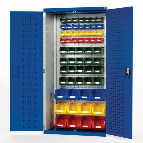 Bott Cubio Perfo Workshop Tool Storage Cabinet & 60 Bins 2000x1050mm