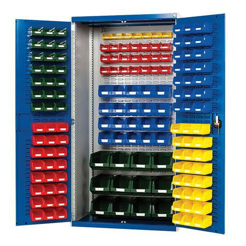 Bott Cubio Louvre Workshop Tool Storage Cabinet & 150 Bins 2000x1050mm