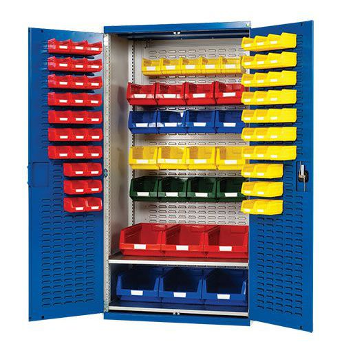 Bott Cubio Louvre Workshop Tool Storage Cabinet & 81 Bins 2000x1050mm