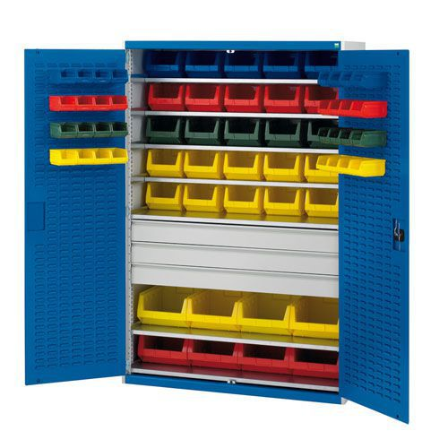 Bott Cubio 3 Drawer Louvre Tool Storage Cabinet 65 Bins 2000x1300mm