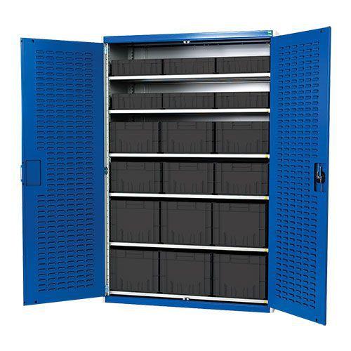 Bott Cubio Louvre Workshop Tool Storage Cabinet 18 Bins 2000x1300mm
