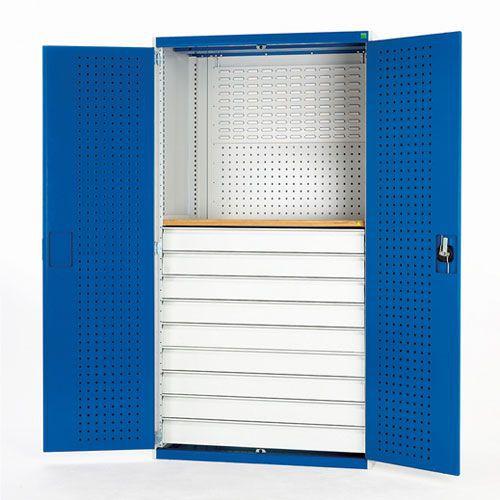 Bott Cubio Perfo/Louvre Backed Workshop Cupboard WxD 1300x650mm