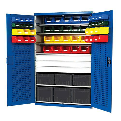 Bott Cubio 3 Drawer Louvre Tool Storage Cabinet 54 Bins 2000x1300mm