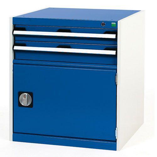 Bott Cubio Combi Cabinet Perfo Door 1 Shelf And 2 Drawers WxD 650x750