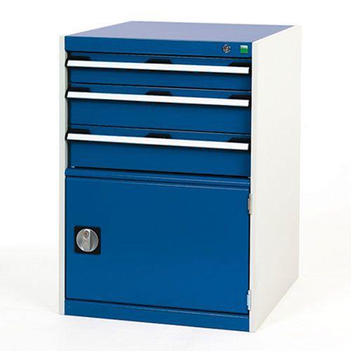 Bott Cubio Combi Cabinet Perfo Door 1 Shelf And 3 Drawers 900x650x750