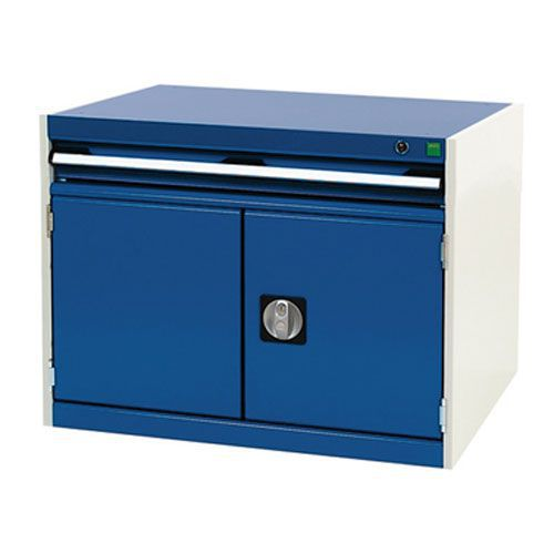Bott Cubio Combi Cabinet Perfo Doors 1 Shelf And 1 Drawer 600x800x750
