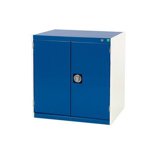 Bott Cubio 2 Shelf Metal Cupboard With Perfo Storage Doors 800x800x750mm