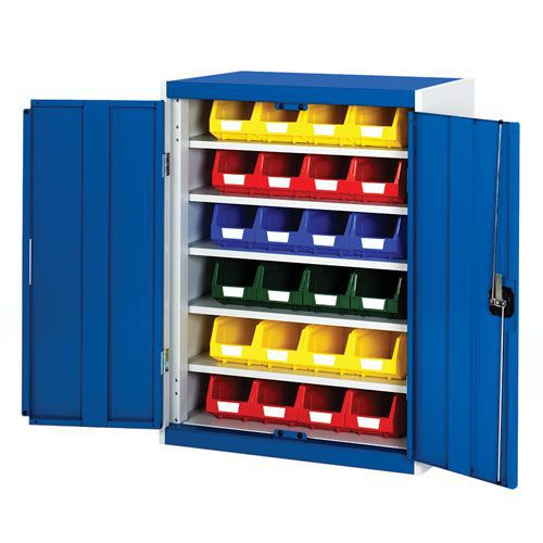 Bott Cubio Workshop Storage Cabinet With 24 Bins HxW 1000x800mm