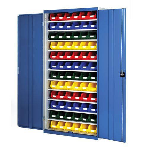 Bott Cubio Workshop Storage Cabinet With 72 Bins HxW 2000x1050mm