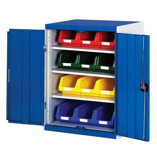 Bott Cubio Workshop Storage Cabinet With 12 Bins HxW 1000x800mm