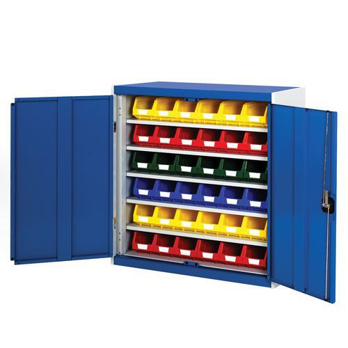Bott Cubio Workshop Storage Cabinet With 36 Bins HxW 1000x1050mm
