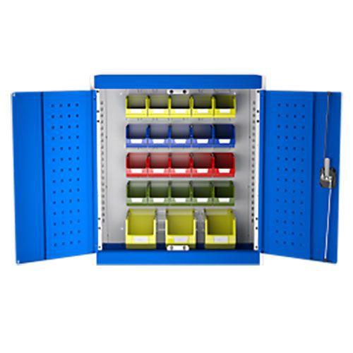 Bott Cubio Louvre/Perfo Workshop Storage Cabinet 23 Bins 700x800mm